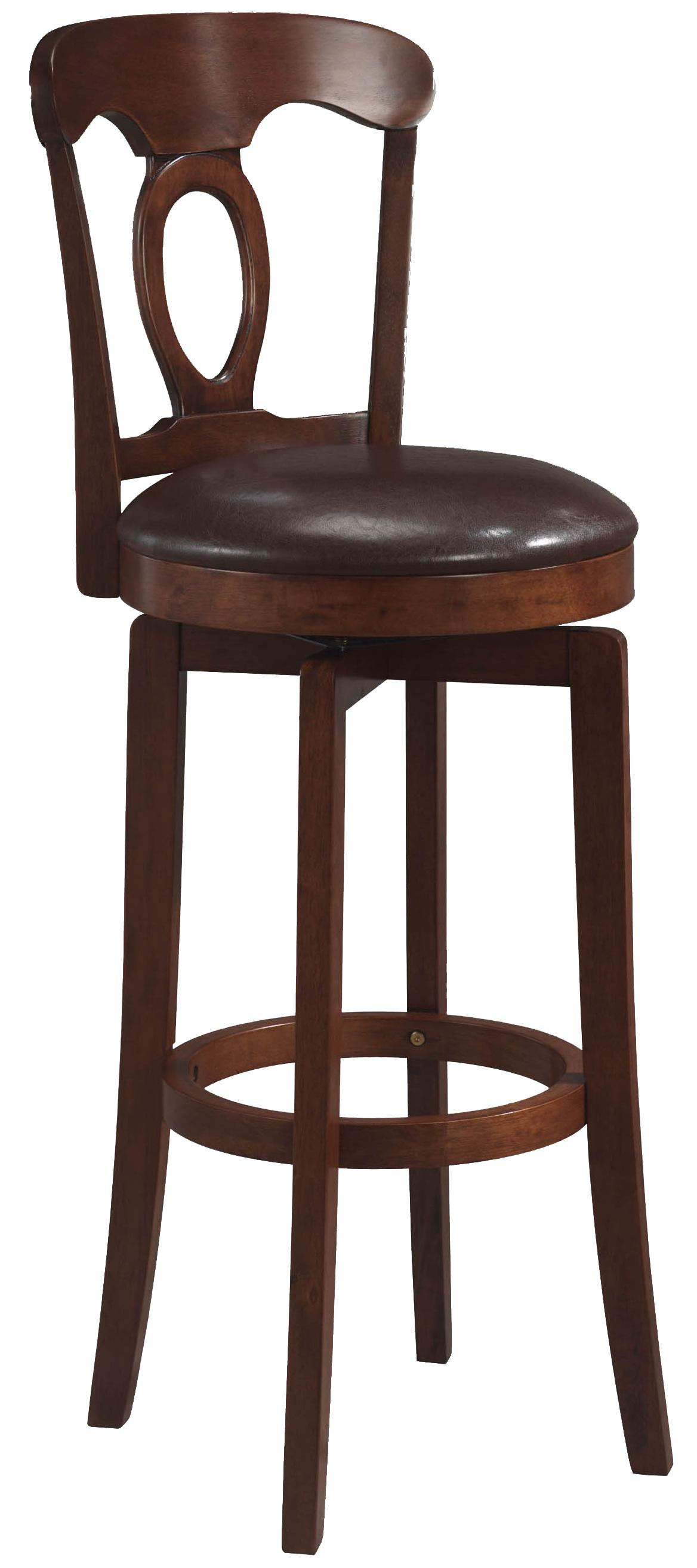 "Hillsdale Wood Stools 30"" Bar Height Brown Corsica Stool  - Item Number: 4166-832"