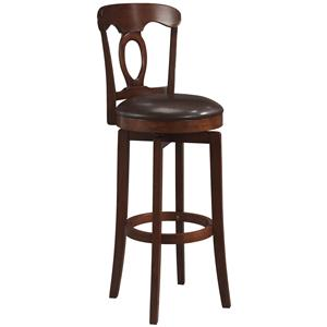 "Morris Home Furnishings Wood Stools 24.5"" Counter Height Brown Corsica Stool"