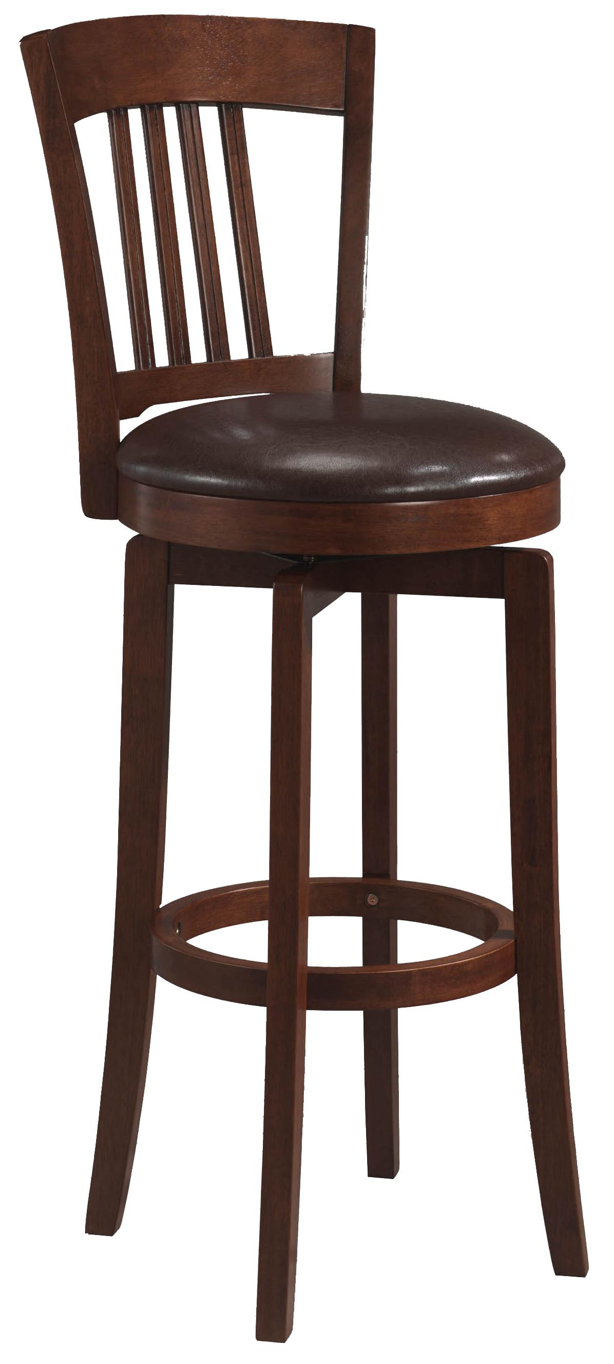 "Hillsdale Wood Stools 30"" Bar Height Canton Swivel Stool - Item Number: 4166-833"