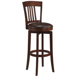 "Morris Home Furnishings Wood Stools 30"" Bar Height Canton Swivel Stool"