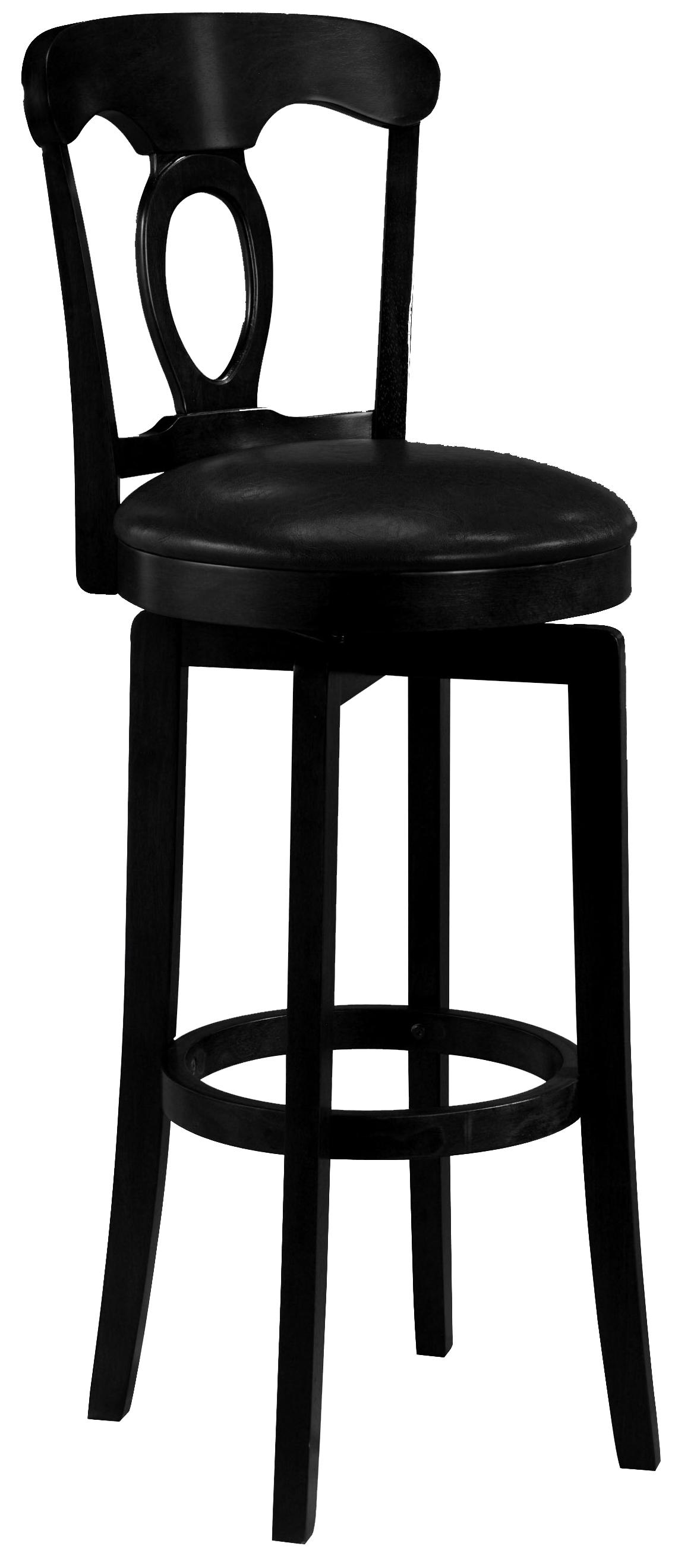 "Hillsdale Wood Stools 30"" Bar Height Black Corsica Stool  - Item Number: 4168-832"