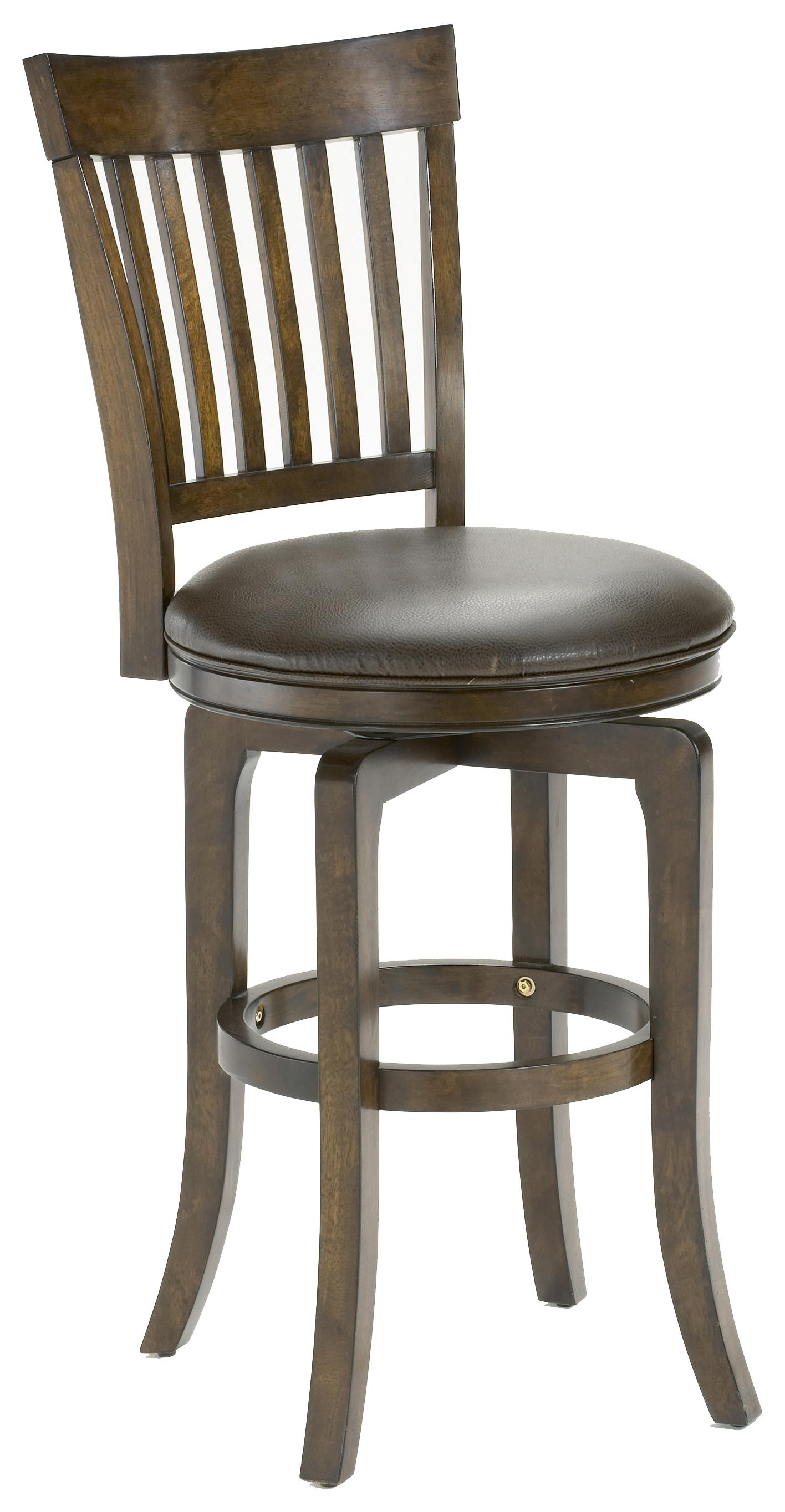 "Hillsdale Wood Stools 24"" Counter Height Arbor Hill Swivel Stool - Item Number: 4232-824"