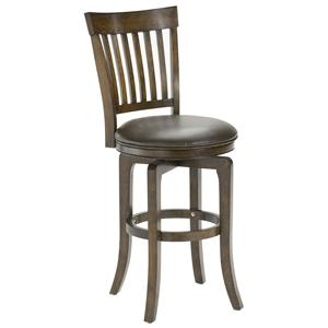 "Hillsdale Wood Stools 30"" Bar Height Arbor Hill Swivel Stool"