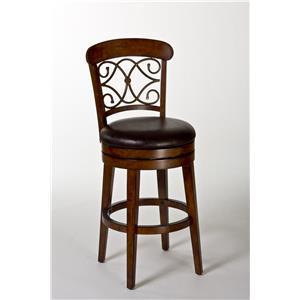 Morris Home Furnishings Wood Stools Bergamo Swivel Counter Stool