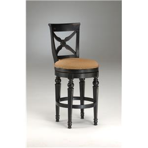 "Morris Home Furnishings Wood Stools 30"" Bar Height Northern Heights Stool"
