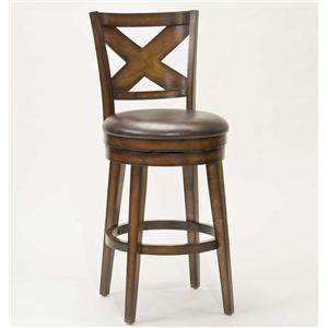 "Hillsdale Wood Stools 30"" Bar Height Sunhill Swivel Stool"