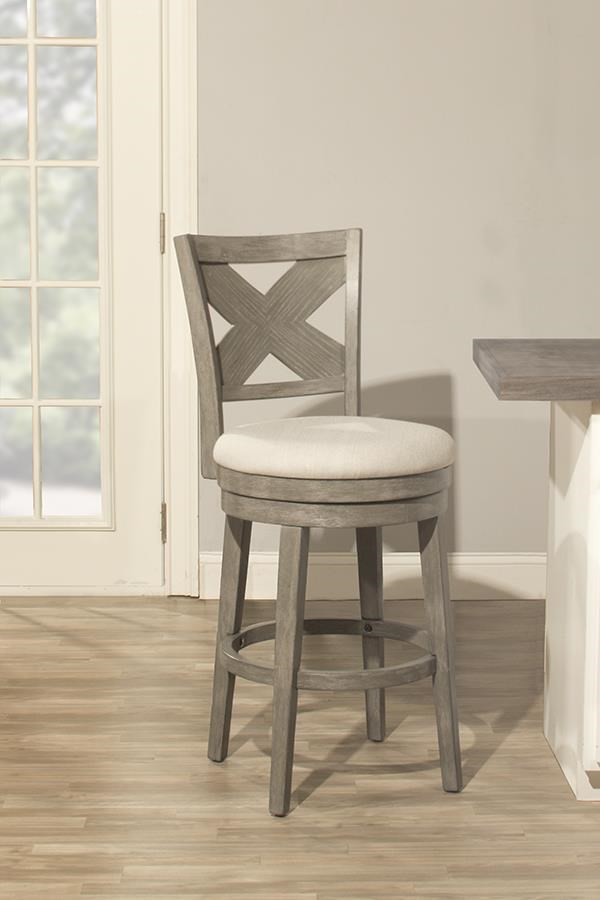 Hillsdale Wood Stools 4459 827 Sunhill Gray 24 Inch Counter Stool