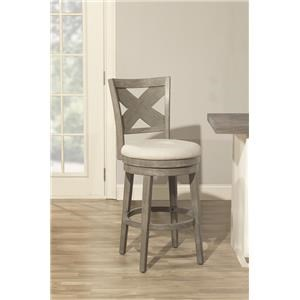 "Hillsdale Wood Stools Sunhill Gray 24"" Counter Stool"