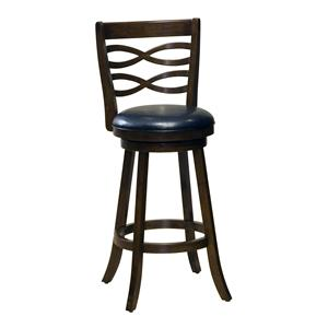 "Hillsdale Wood Stools 30"" Bar Height Elkhorn Swivel Bar Stool"