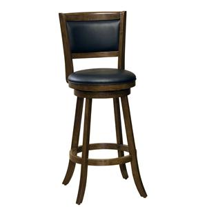 "Hillsdale Wood Stools 24"" Counter Height Dennery Swivel Bar Stool"