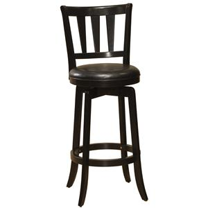 "Morris Home Furnishings Wood Stools 30"" Bar Height Presque Isle Swivel Bar Stool"