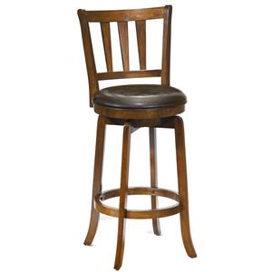 "Morris Home Wood Stools 30"" Bar Height Presque Isle Swivel Bar Stool"