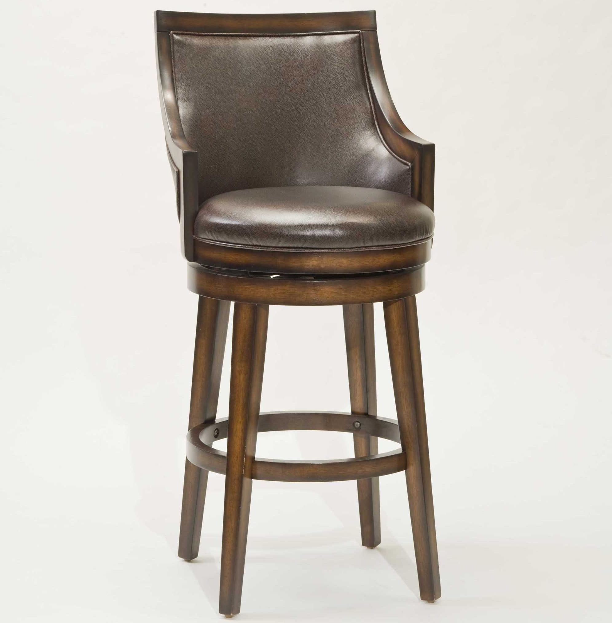 Hillsdale Wood Stools 30 Quot Bar Height Lyman Swivel Stool