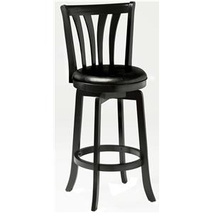 "Morris Home Furnishings Wood Stools 30"" Bar Height Savana Swivel Bar Stool"