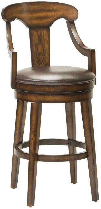 "Hillsdale Wood Stools 26.5"" Upton Swivel Counter Stool - Item Number: 4499-826"
