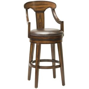"Morris Home Furnishings Wood Stools 30.5"" Upton Swivel Bar Stool"