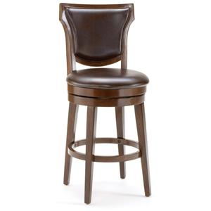 Hillsdale Wood Stools Country Heights Swivel Bar Stool