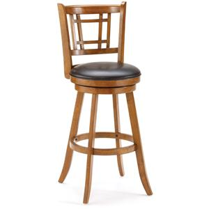 Hillsdale Wood Stools Fairfox Swivel Counter Stool w/ Upholstered Seat