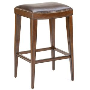 Morris Home Furnishings Wood Stools Riverton Backless Bar Stool