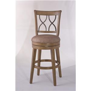 Morris Home Furnishings Wood Stools Reydon Swivel Bar Stool