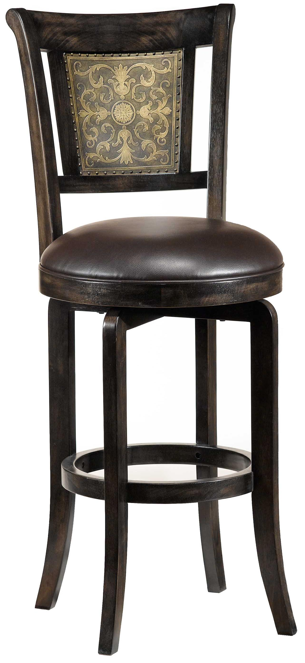 "Hillsdale Wood Stools 26.5"" Counter Height Camille Swivel Stool - Item Number: 4861-826S"