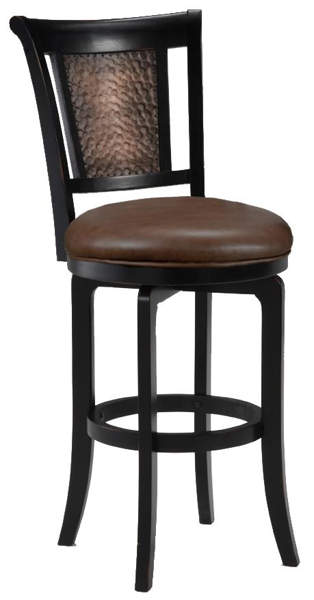 "Hillsdale Wood Stools 26.5"" Counter Height Cecily Swivel Stool - Item Number: 4887-826S"