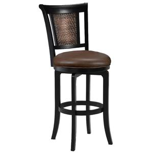 "Morris Home Furnishings Wood Stools 30"" Bar Height Cecily Swivel Stool"