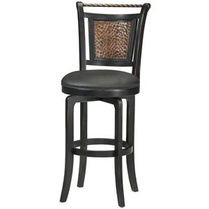 "Morris Home Furnishings Wood Stools 26.5"" Counter Height Norwood Swivel Stool"