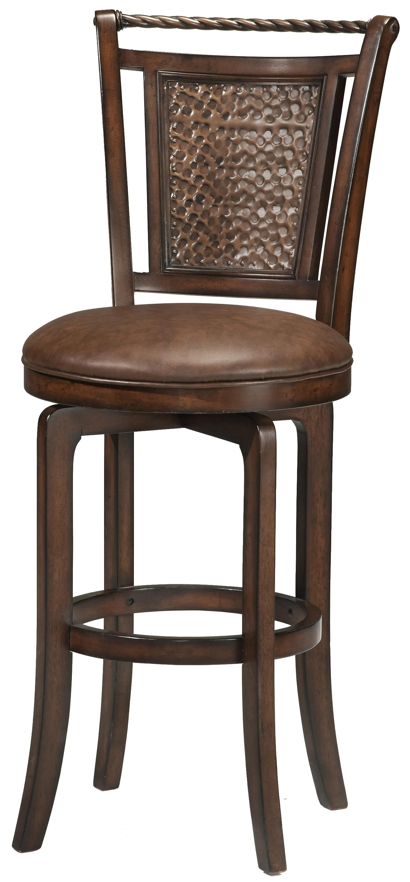 "Hillsdale Wood Stools 26.5"" Counter Height Norwood Swivel Stool - Item Number: 4935-827S"