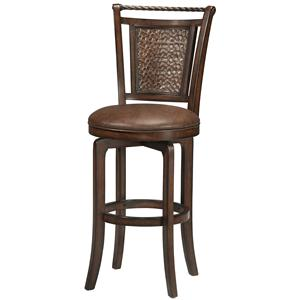 "Morris Home Furnishings Wood Stools 30.5"" Bar Height Norwood Swivel Stool"