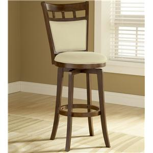 "Morris Home Furnishings Wood Stools 30"" Bar Height Jefferson Swivel Stool"