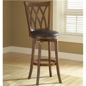 "Morris Home Furnishings Wood Stools 30"" Bar Height Mansfield Swivel Stool"
