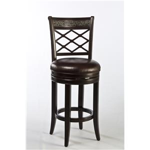 Morris Home Furnishings Wood Stools Spalding Swivel Counter Stool