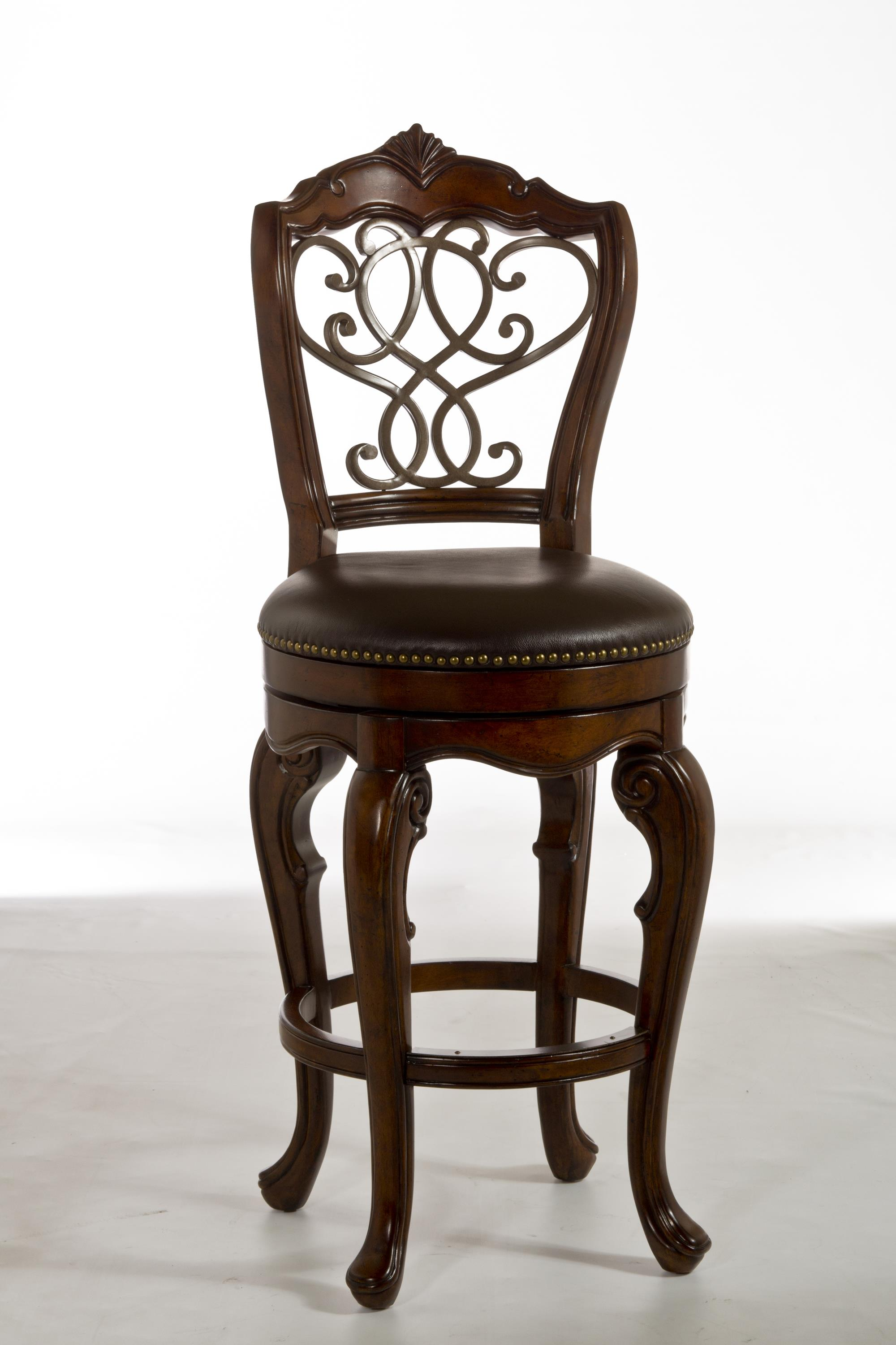 Hillsdale Wood Stools Burrell Swivel Counter Stool With