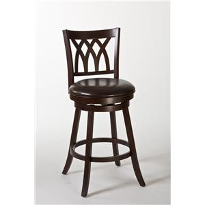 Morris Home Furnishings Wood Stools Tateswood Swivel Bar Stool