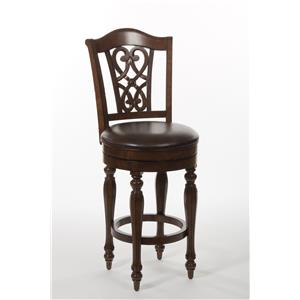 Hillsdale Wood Stools Hamilton Park Swivel Counter Stool