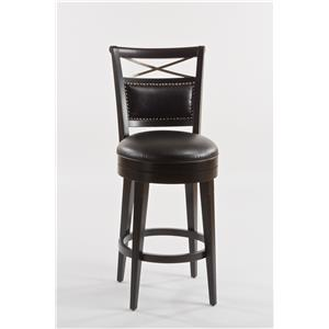 Hillsdale Wood Stools Tate Street Swivel Bar Stool