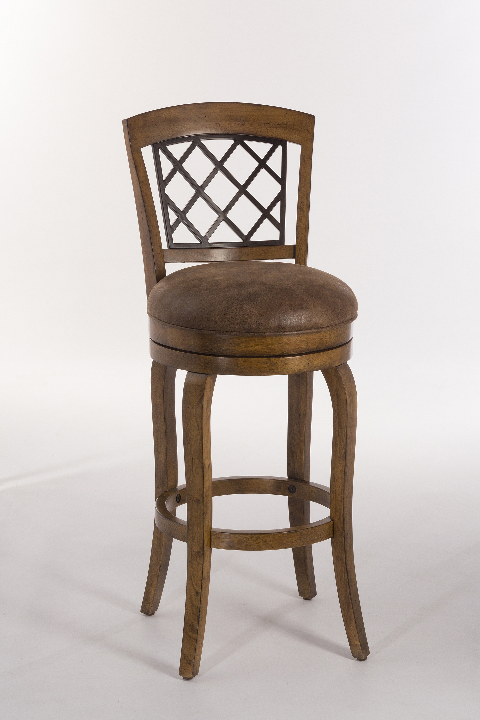 Hillsdale Wood Stools Swivel Counter Height Stool With