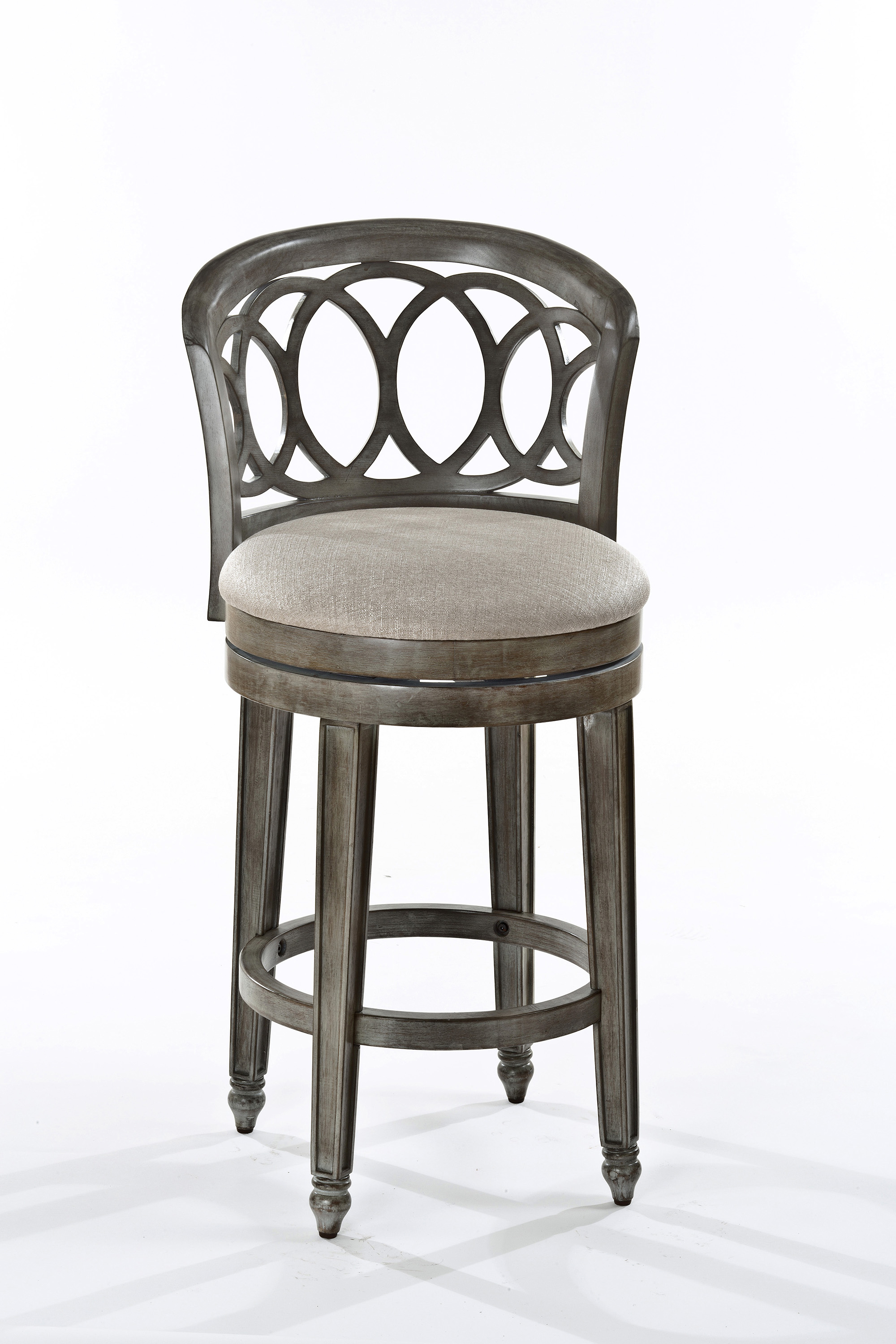 Hillsdale Wood Stools Swivel Bar Height Stool With