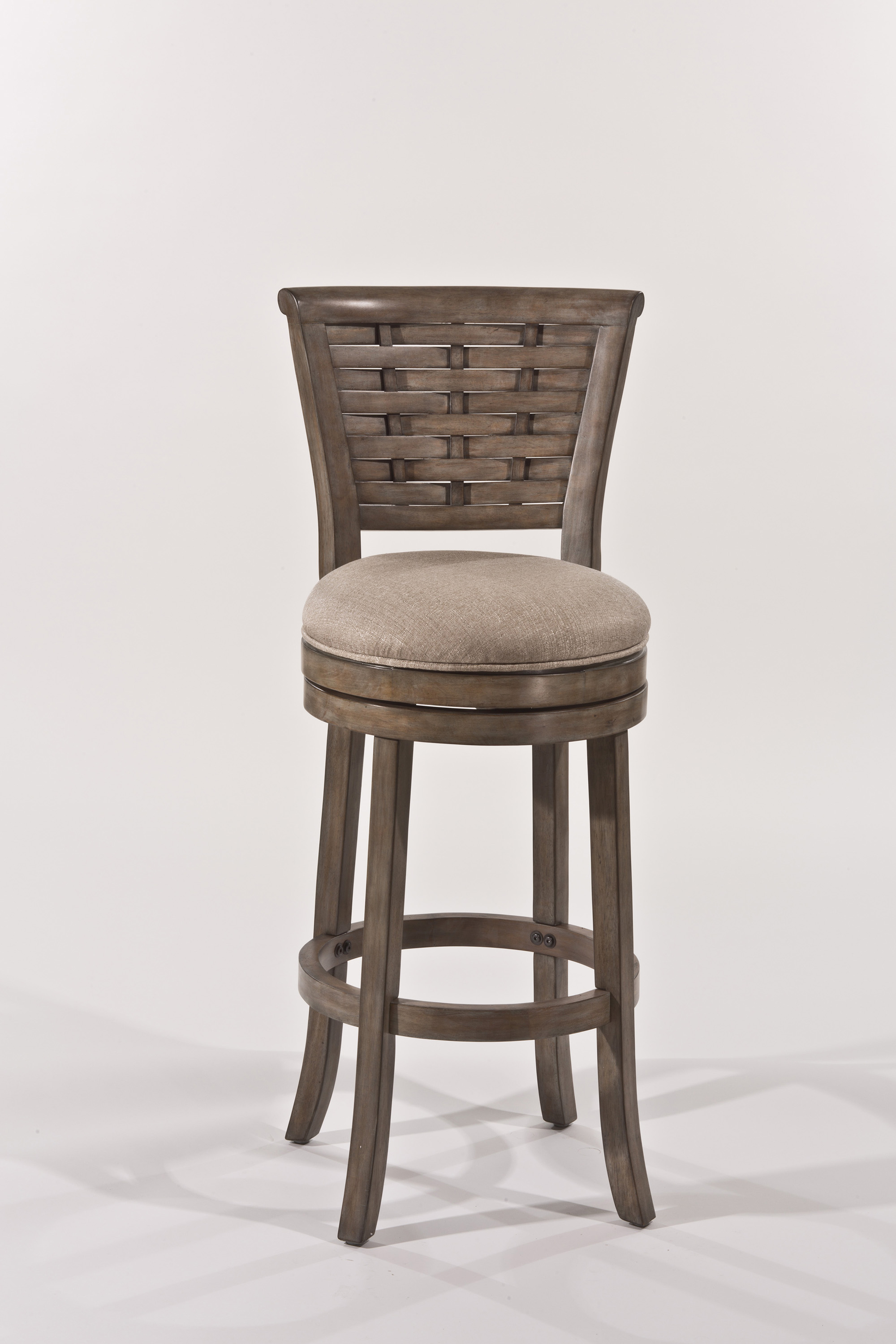Hillsdale Wood Stools Wooden Swiveling Bar Height Stool ...