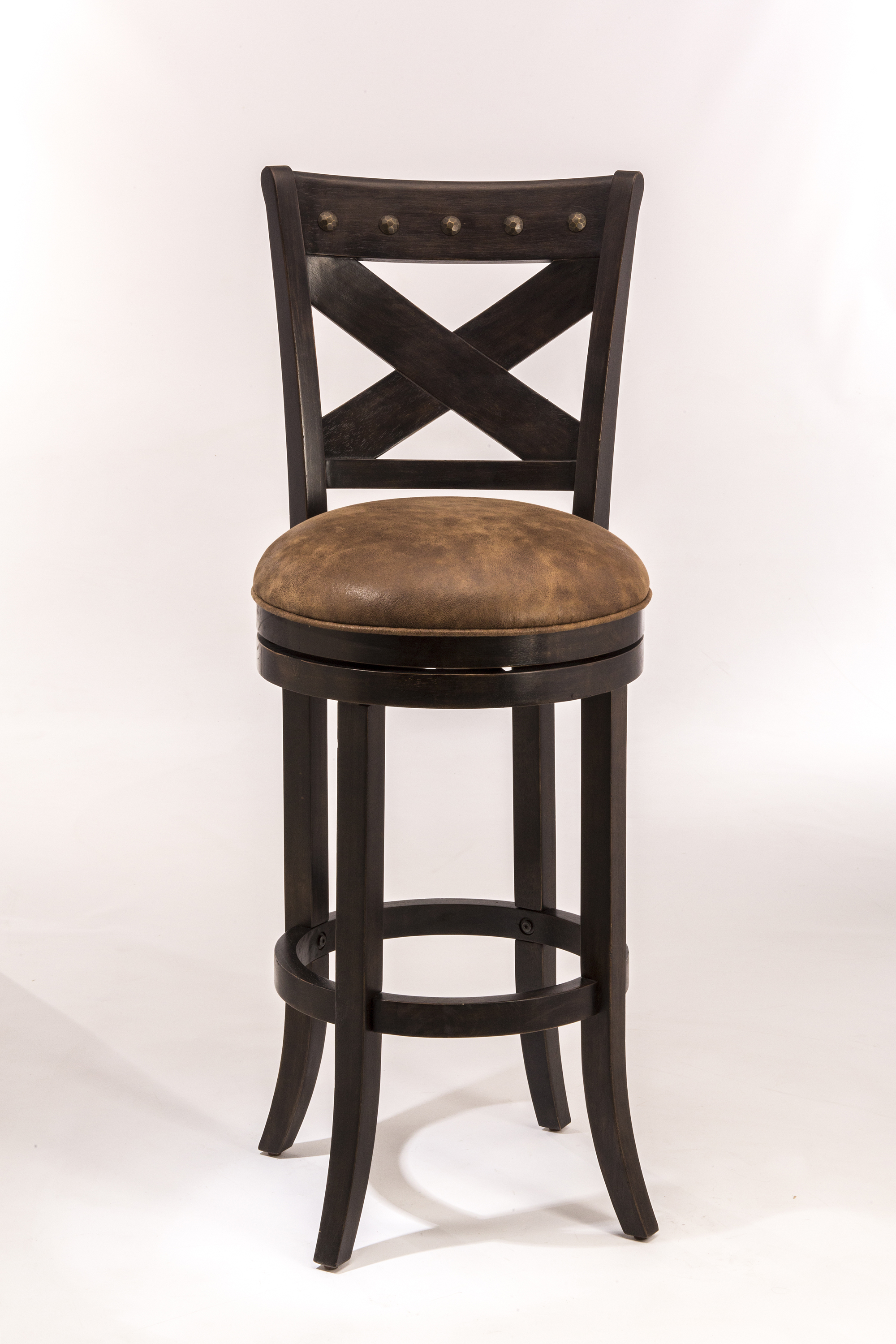 Wooden Swivel Bar Stools ~ Hillsdale wood stools swivel bar height stool