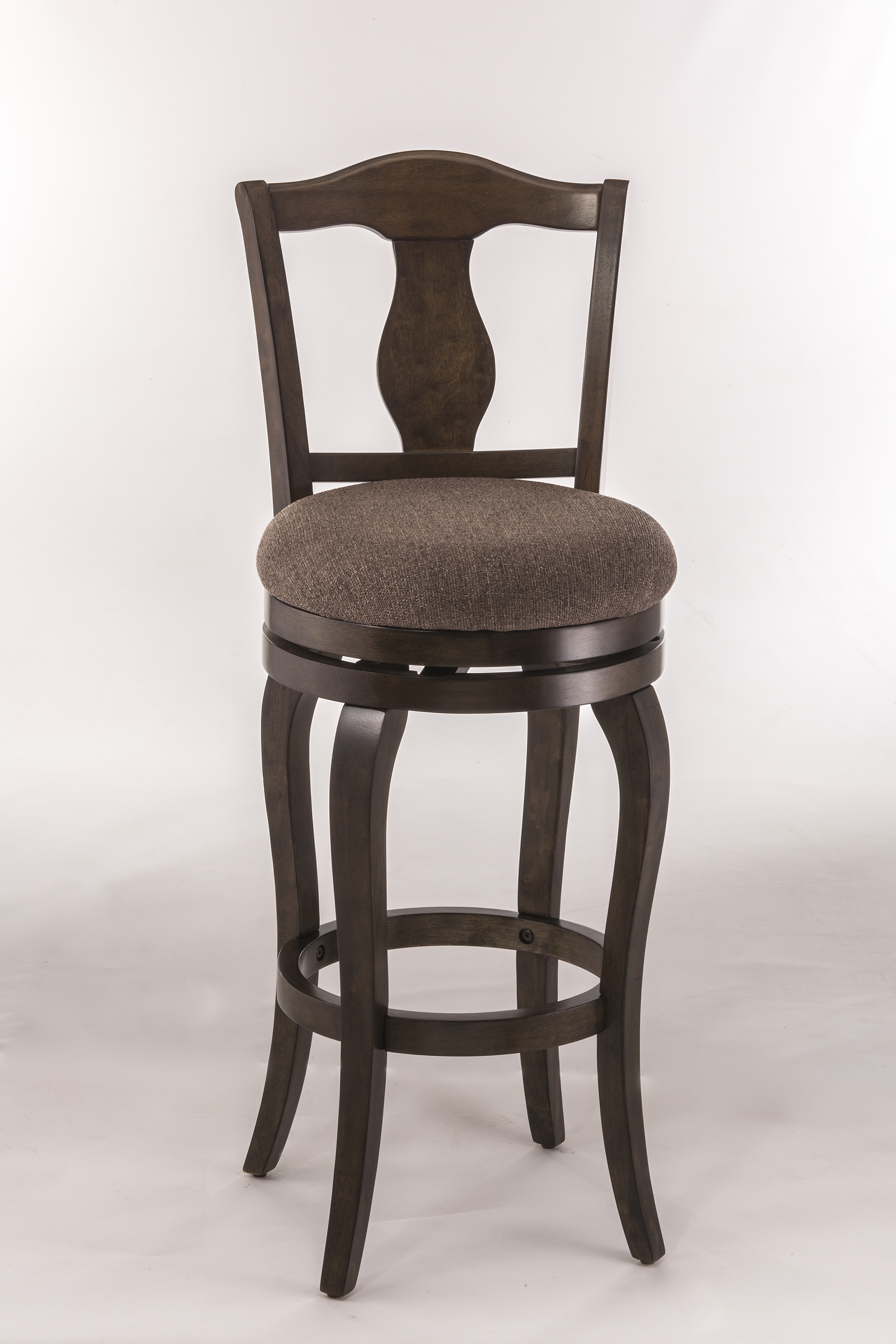 Hillsdale Wood Stools Upholstered Swivel Counter Height