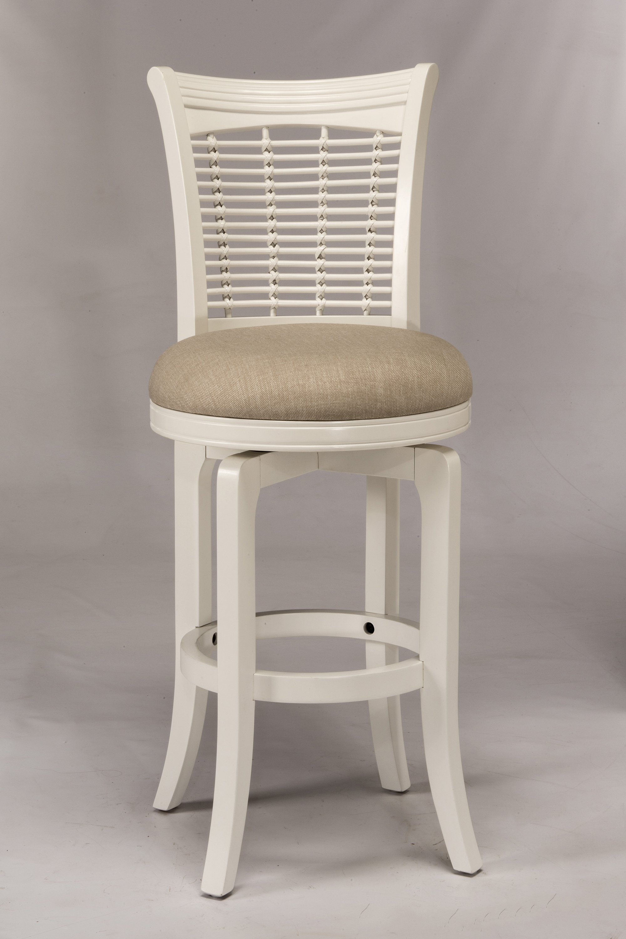 Hillsdale Wood Stools White Swiveling Counter Height Stool