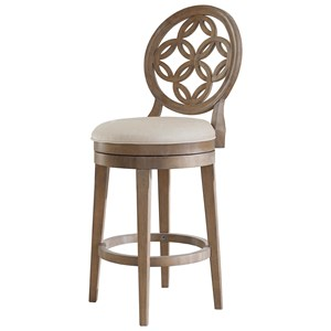 Morris Home Wood Stools Swivel Counter Height Stool
