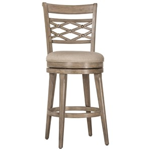 Morris Home Wood Stools Swivel Bar Stool