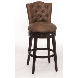 Morris Home Furnishings Wood Stools Swivel Bar Stool