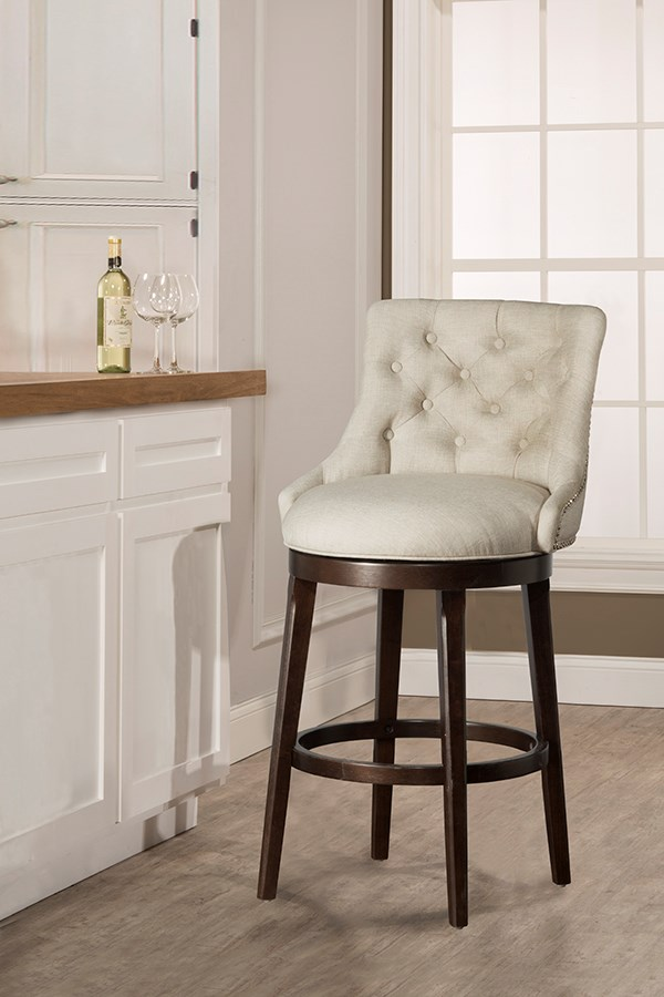 Hillsdale Wood Stools 5993 830 Classic Armchair Swivel Bar