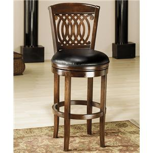 "Morris Home Furnishings Wood Stools 24"" Counter Height Vienna Swivel Stool"