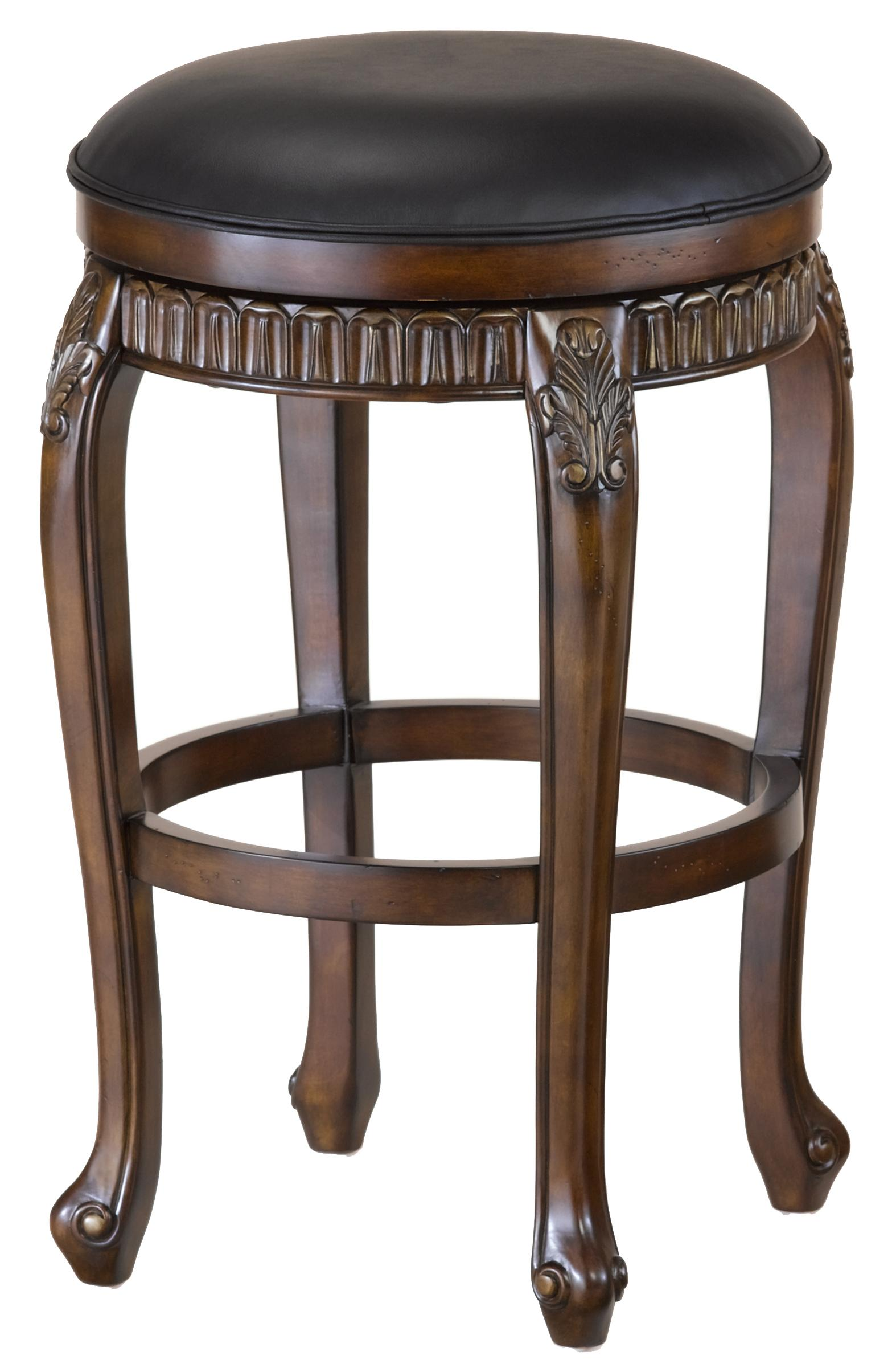 "Hillsdale Wood Stools 24"" Counter Height Fleur De Lis Stool - Item Number: 62993"