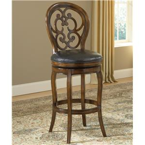 Morris Home Wood Stools Alexandra Swivel Bar Stool